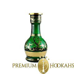 BJ Bohemian kristallen vaas - Emerald 24K