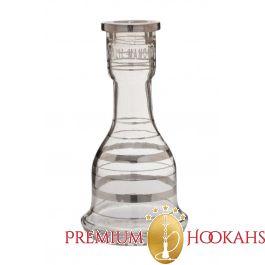 Khalil Mamoon vaas - Clear Silver