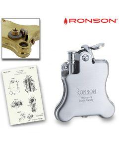 Ronson Banjo 1928 - Benzine Aansteker (Chrome)