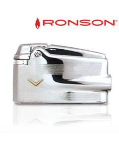 Ronson Varaflame - Vuursteen Aansteker (Chrome-Goud V)