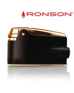 Ronson Varaflame - Vuursteen Aansteker (Zwart-Goud)