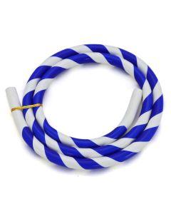 Siliconen slang (los) - Gestreept (Blauw/Wit)