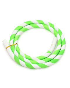 Siliconen slang (los) - Gestreept (Groen/Wit)