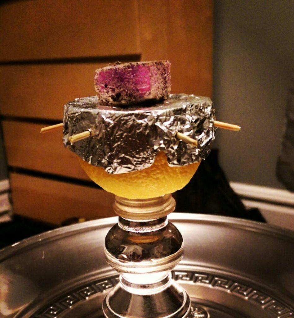 meloen waterpijp tabakskop